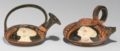 TWO CAMPANIAN RED-FIGURED VESS