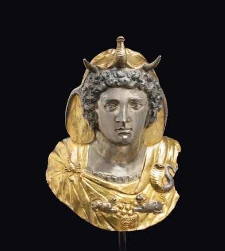 A ROMAN PARCEL GILT SILVER EMB