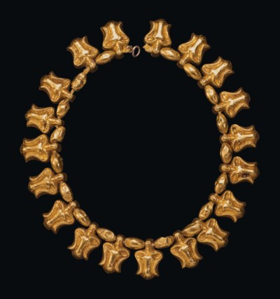 A MEROITIC GOLD BEAD NECKLACE