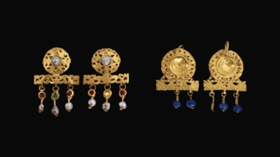 TWO PAIRS OF LATE ROMAN GOLD E