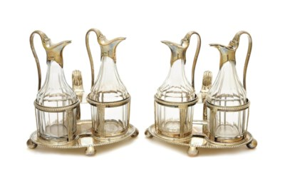 A PAIR OF GEORGE III SILVER AN