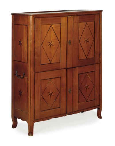 A FRENCH WALNUT AND PARQUETRY-