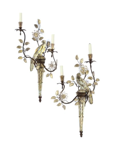 A PAIR OF FRENCH GILT-METAL, M