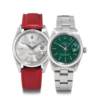 Rolex. A Pair Of Stainless Ste