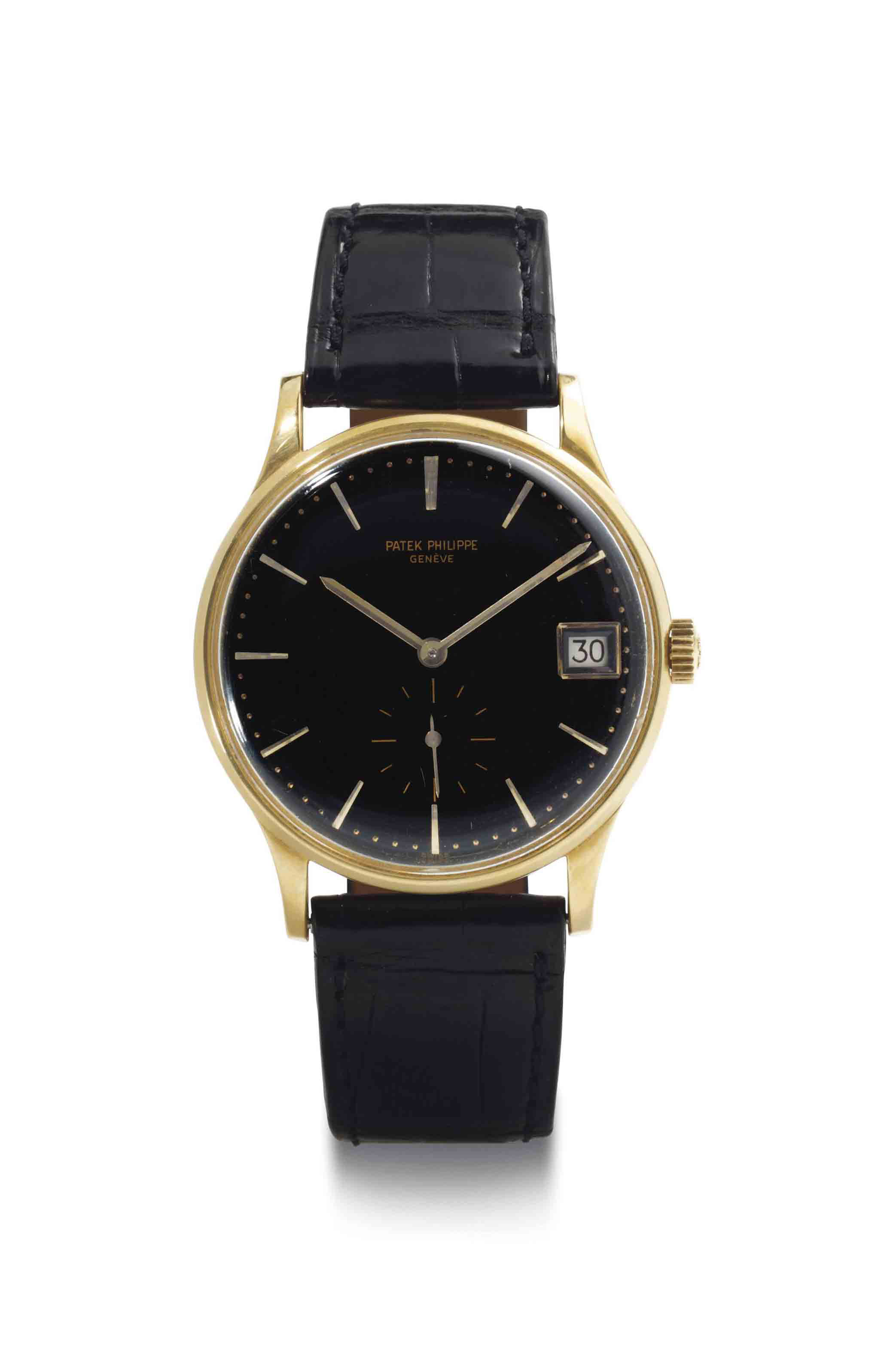 Patek philippe an 18k gold automatic wristwatch with date signed patek philippe geneve ref for Patek philippe geneve