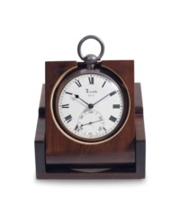 John Roger Arnold. A Silver Openface Pocket Chronometer With Helical Hairspring And Fitted Wooden Box