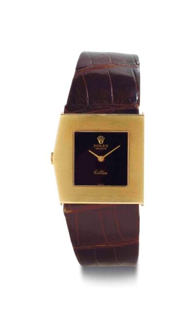 Rolex. An 18k Gold Left-Handed