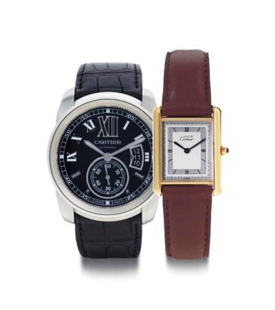 Cartier. A Lot Of Two Wristwat