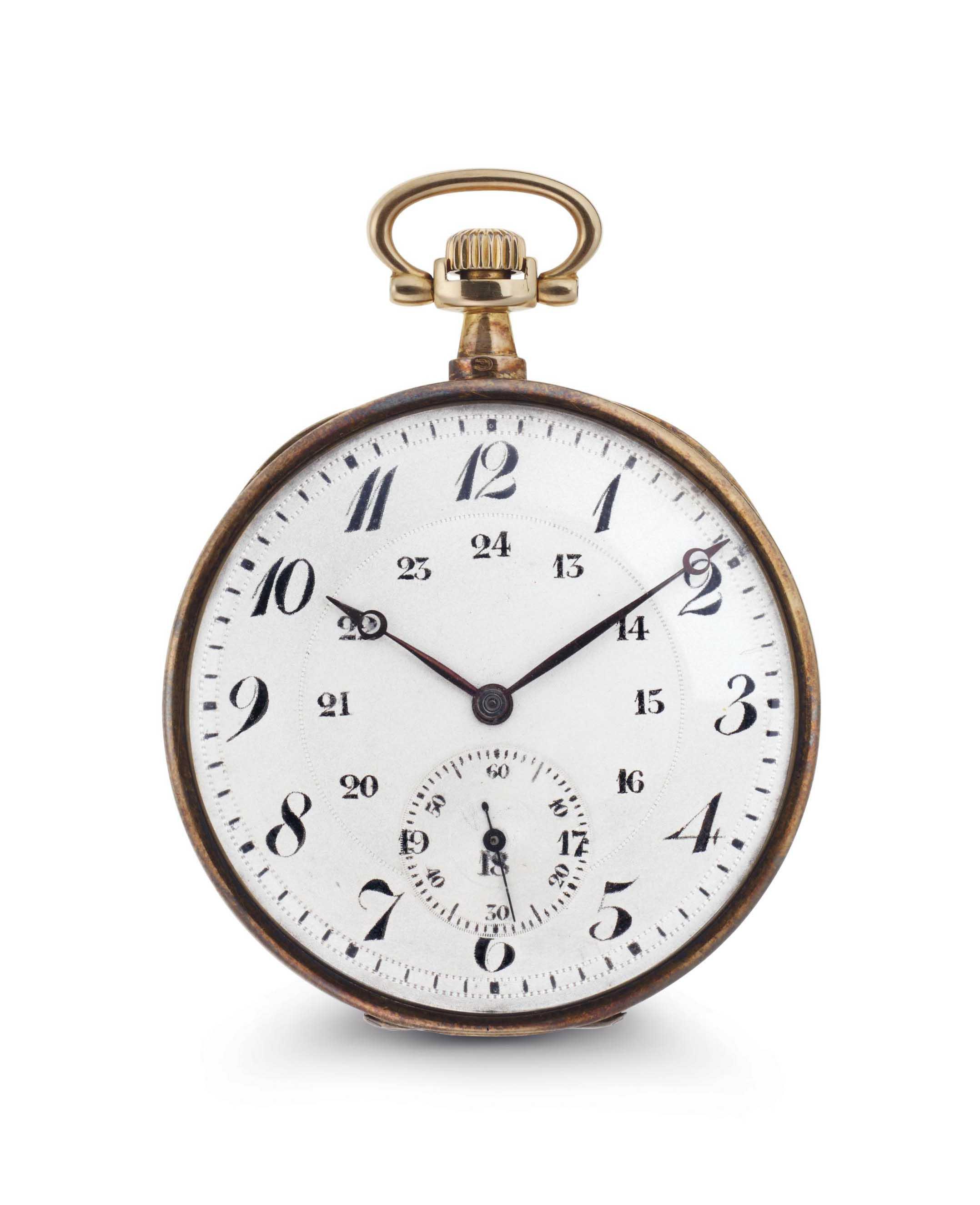 LaCloche Freres. An 18k Gold Openface Keyless Lever Dress Watch