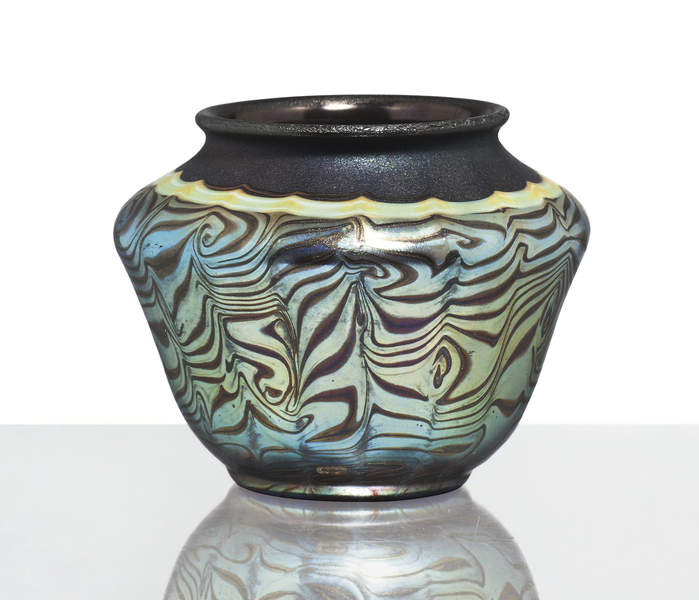 TIFFANY STUDIOS , A DECORATED CYPRIOTE FAVRILE GLASS