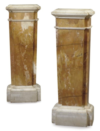 A PAIR OF ENGLISH SIENA AND WH