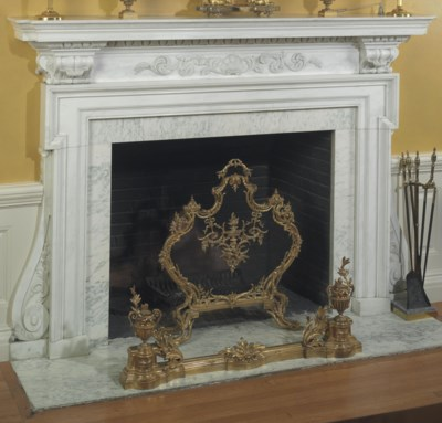 A FRENCH GILT-BRONZE AND WIRE