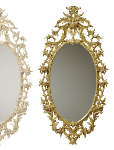 A PAIR GEORGE III STYLE GILTWO