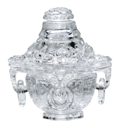 A CHINESE CARVED ROCK CRYSTAL