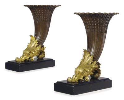 A PAIR OF WILLIAM IV GILT-BRON