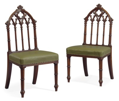 A PAIR OF WILLIAM IV OAK SIDE