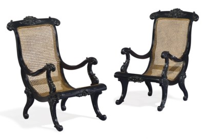 A PAIR OF ANGLO-INDIAN SOLID E