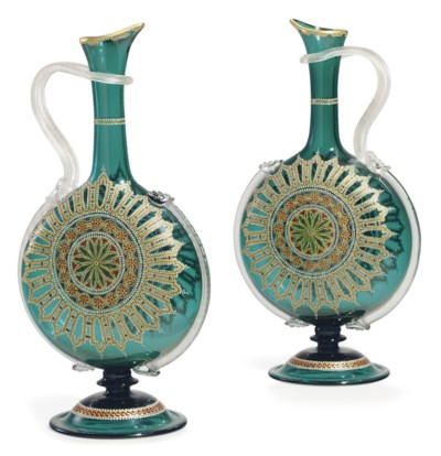 A PAIR OF CLICHY 'JEWELED' TRA