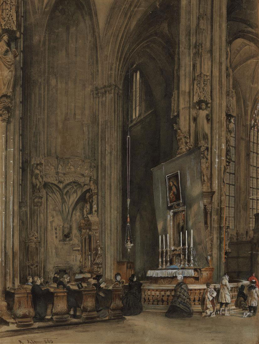 The interior of Saint Stephen's Cathedral, Vienna