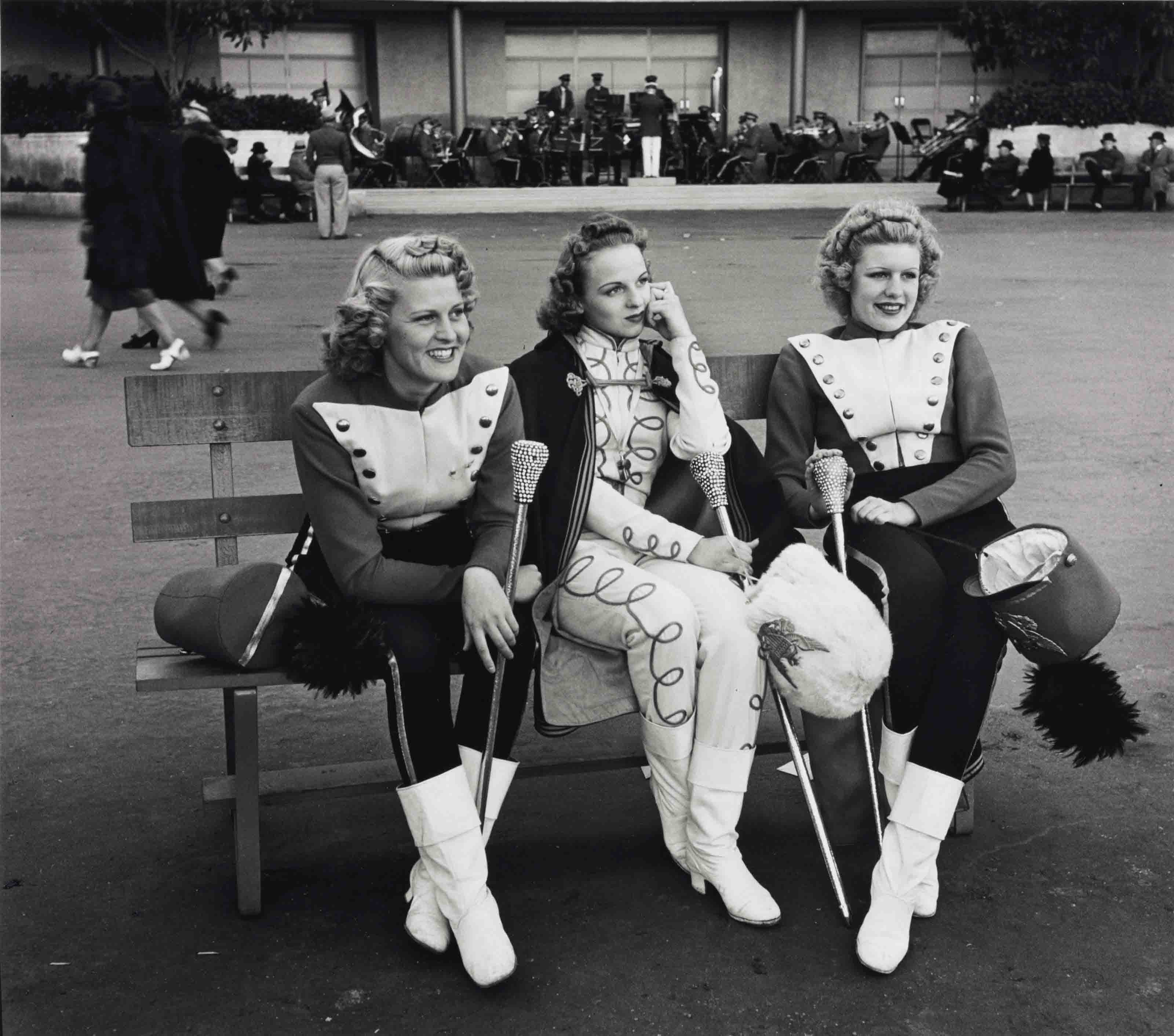 Three Majorettes, 1939