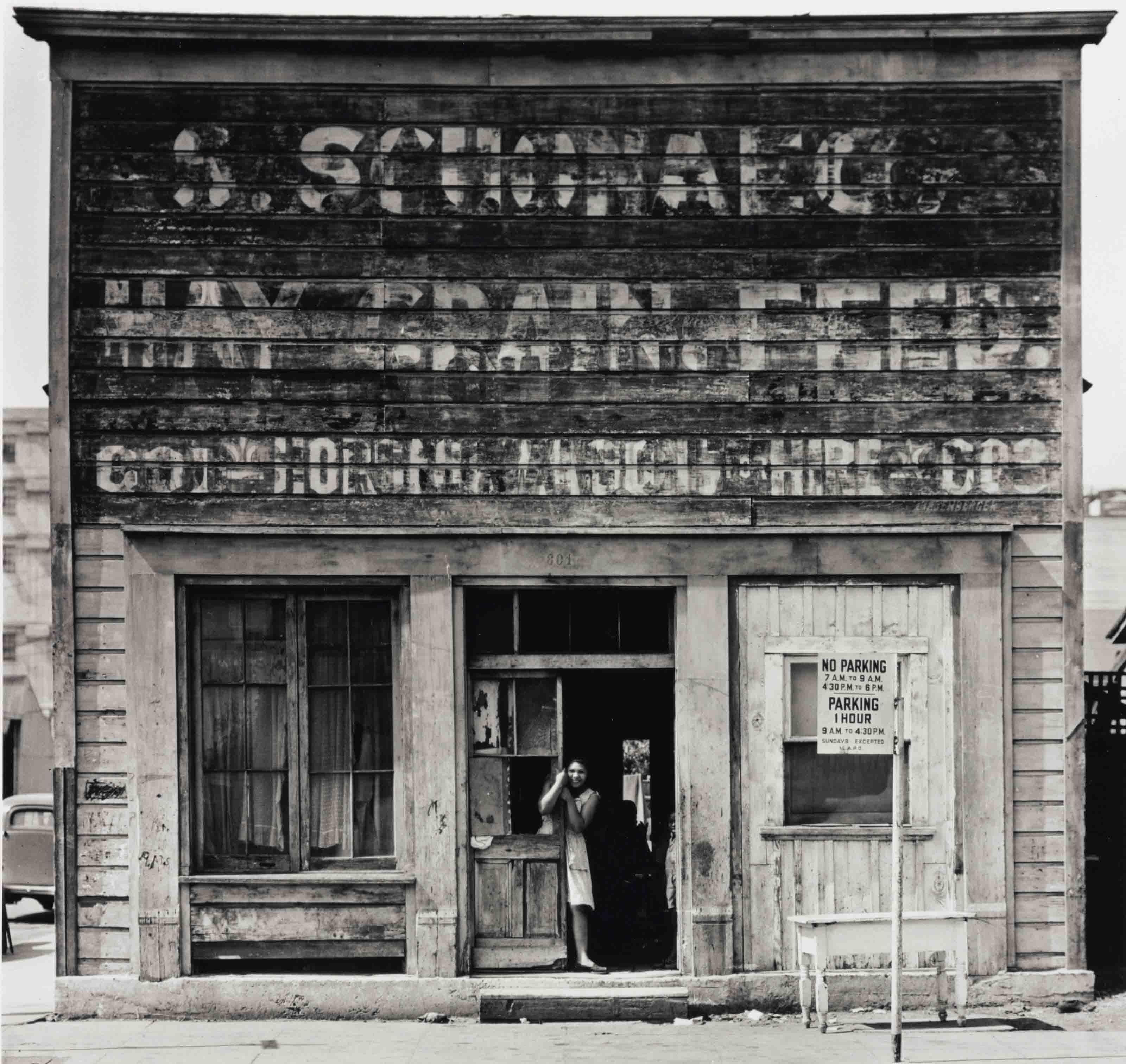 Girl in Doorway, Los Angeles, 1940s
