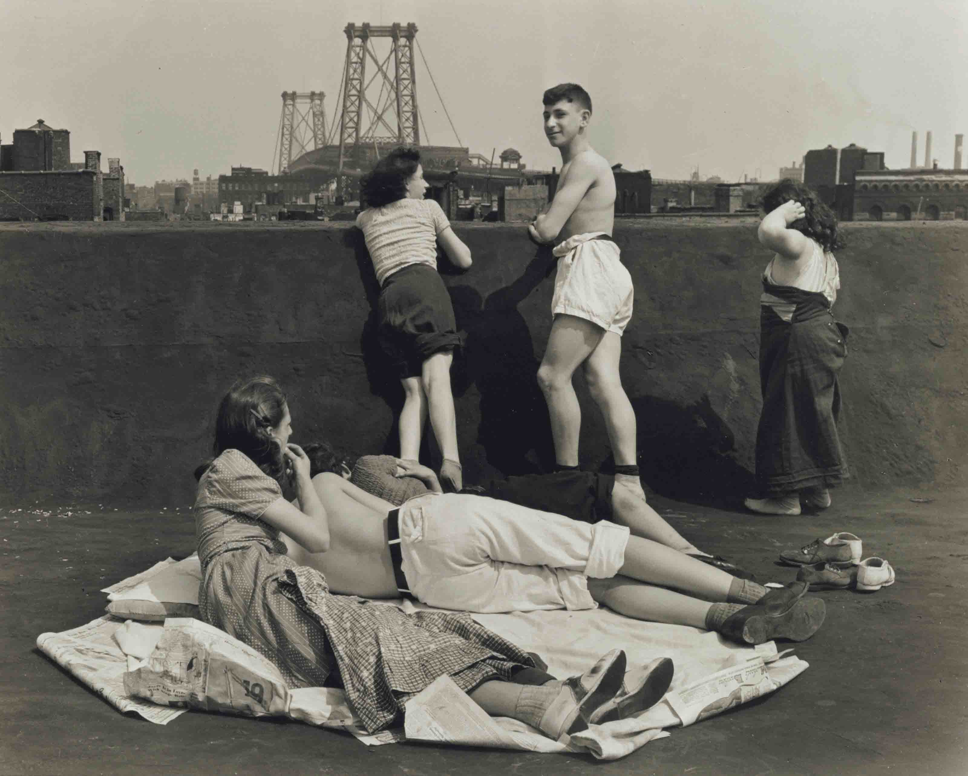 Children on Roof, Pitt St., N.Y., 1938
