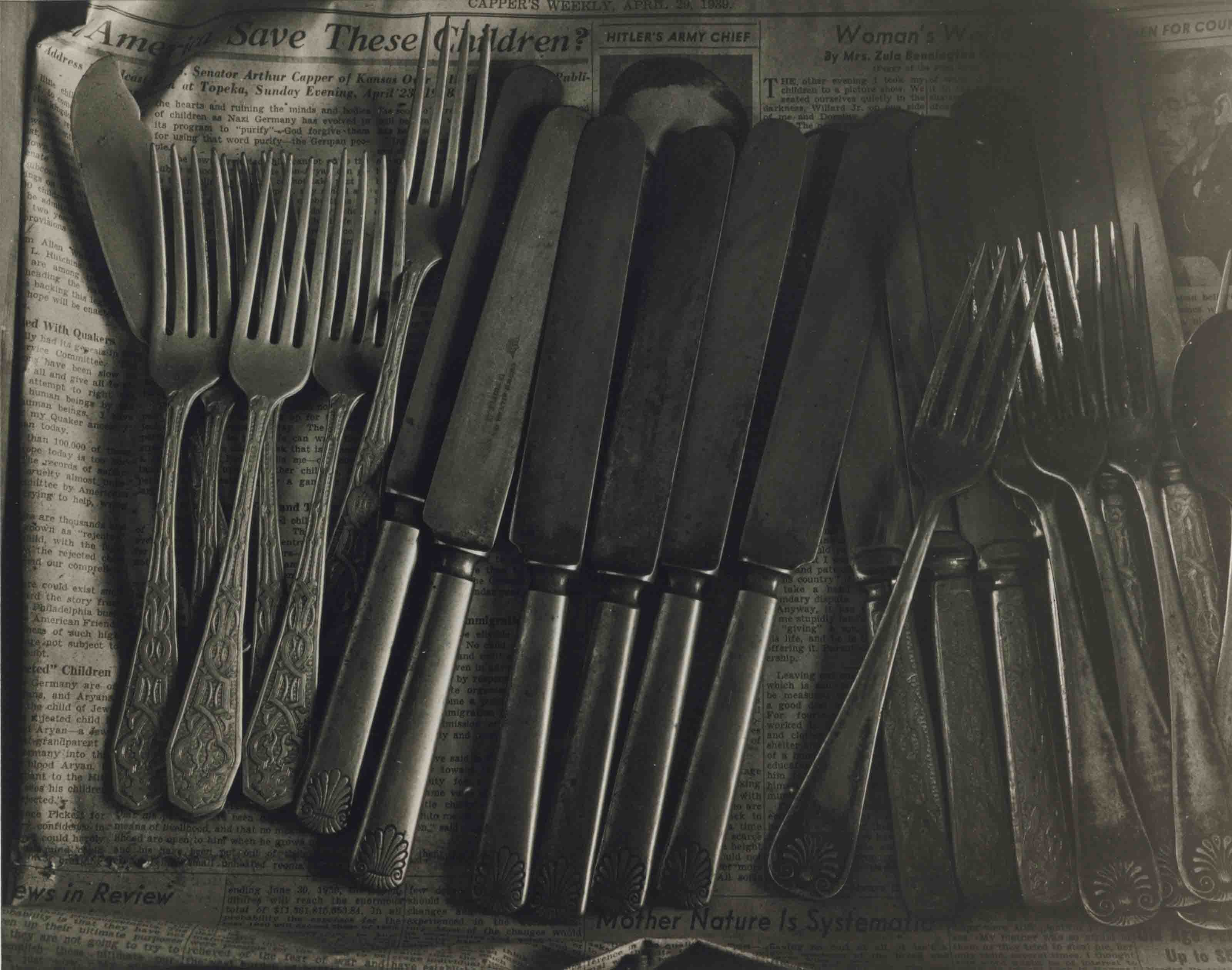 Drawer with Silverware, Home Place, 1947