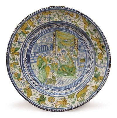 A LONDON DELFT DATED POLYCHROM