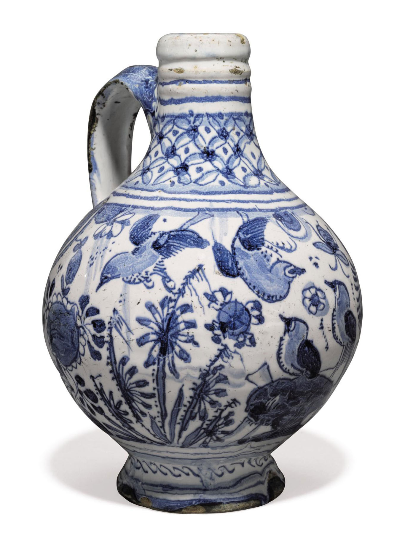 A London Delft Dated Blue And White Chinoiserie Wine