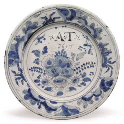AN ENGLISH DELFT DATED CHINOIS