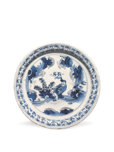 A LONDON DELFT DATED CHINOISER