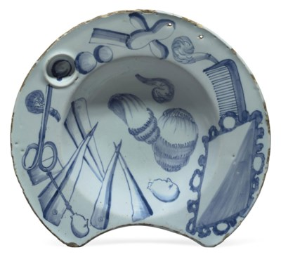 AN ENGLISH DELFT BLUE AND WHIT