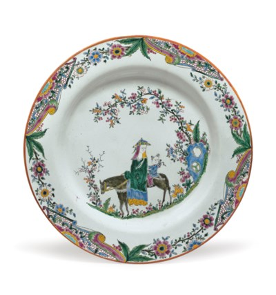 AN ENGLISH DELFT CHINOISERIE P