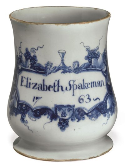 AN ENGLISH DELFT NAMED AND DAT