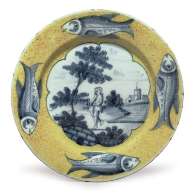 A LONDON DELFT YELLOW-GROUND P