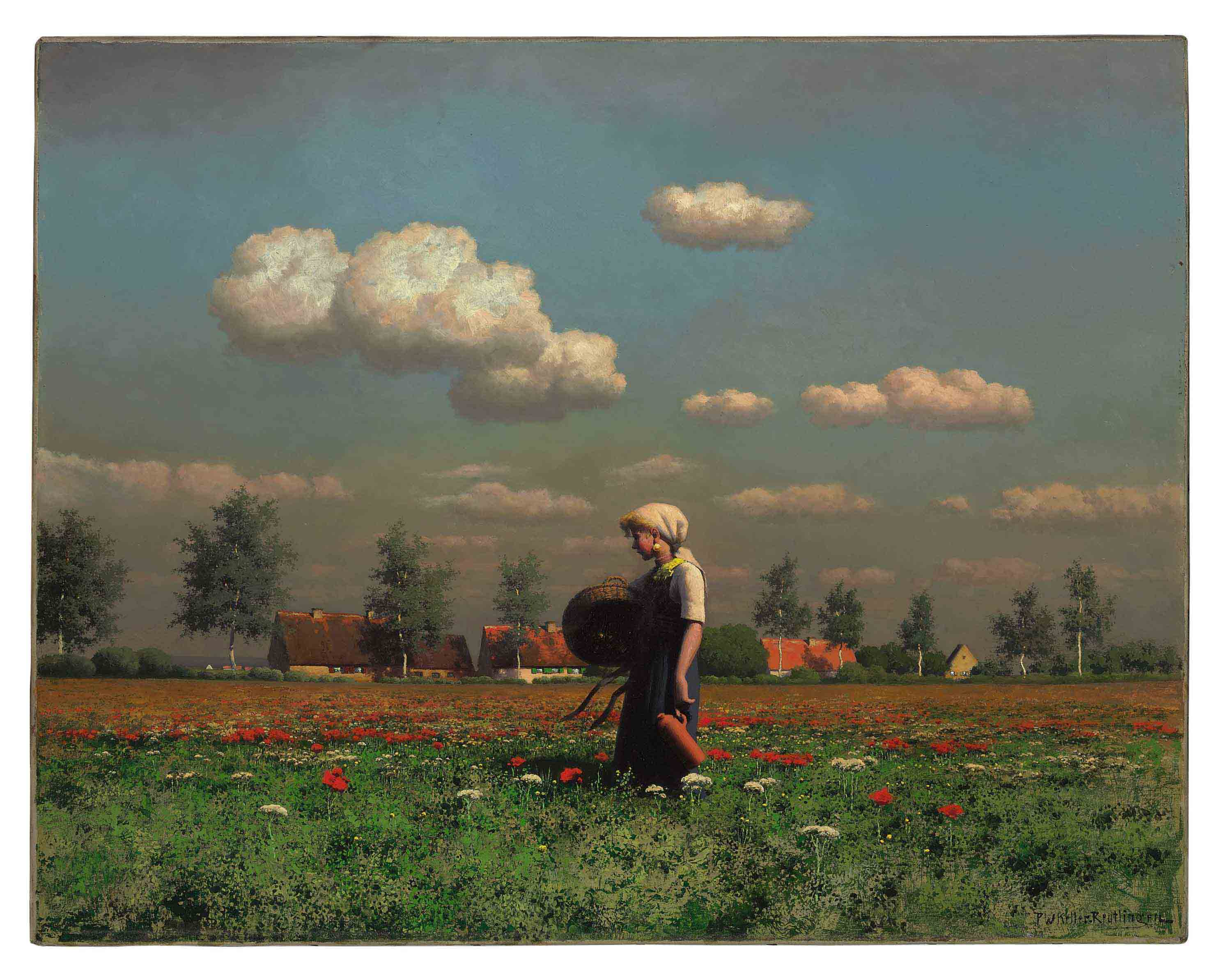 A Girl in a Field of Poppies