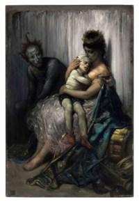 La famille du saltimbanque: l'enfant blessé