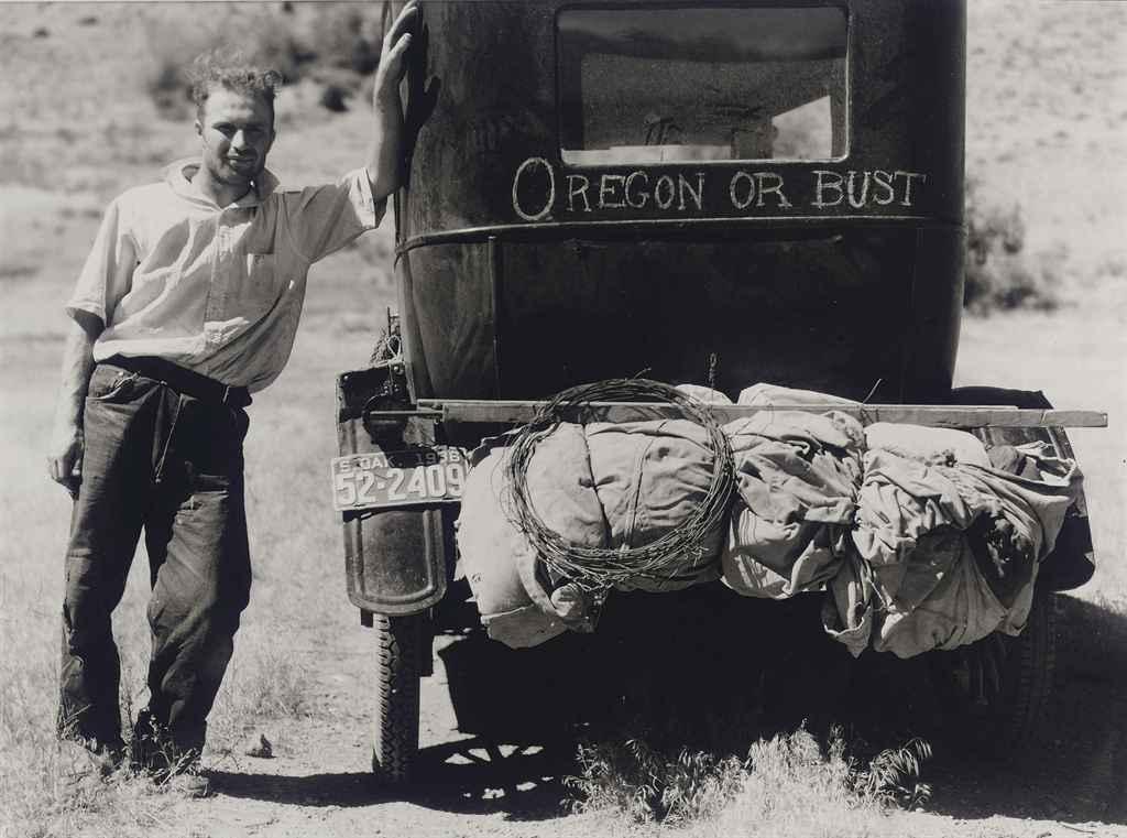 Vernon Evans, Migrant from South Dakota to Oregon, 1936