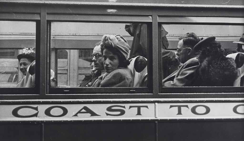 Greyhound Bus Passengers (Coast to Coast), 1947