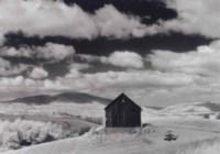 Barn and Clouds, Naples, New York, 1955