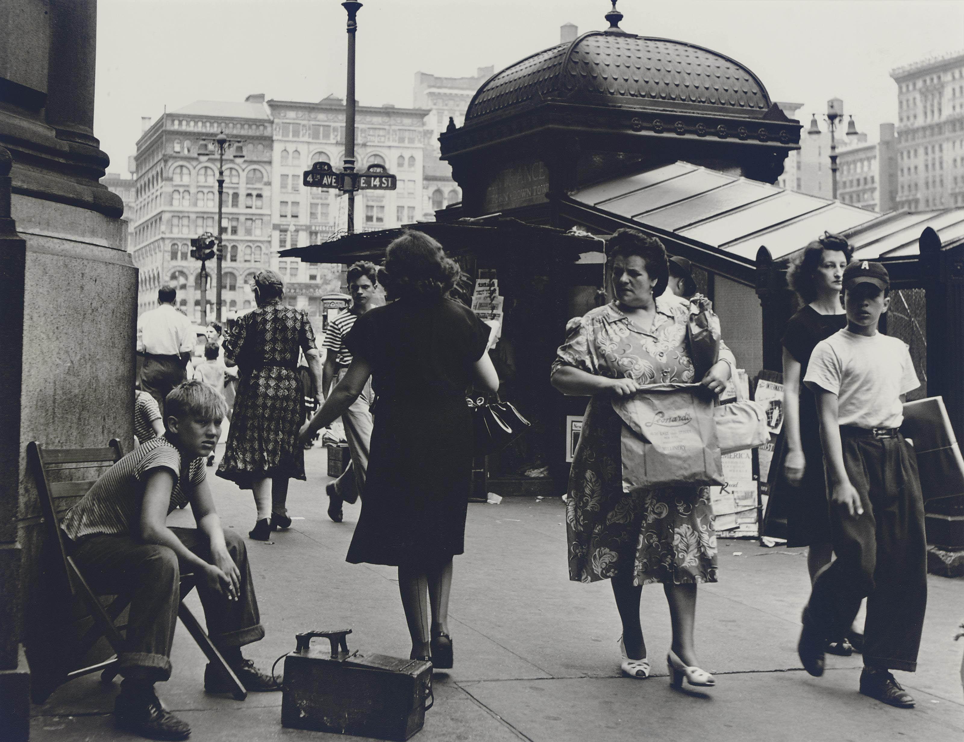 Shoe Shines, New York City, 1945-1948