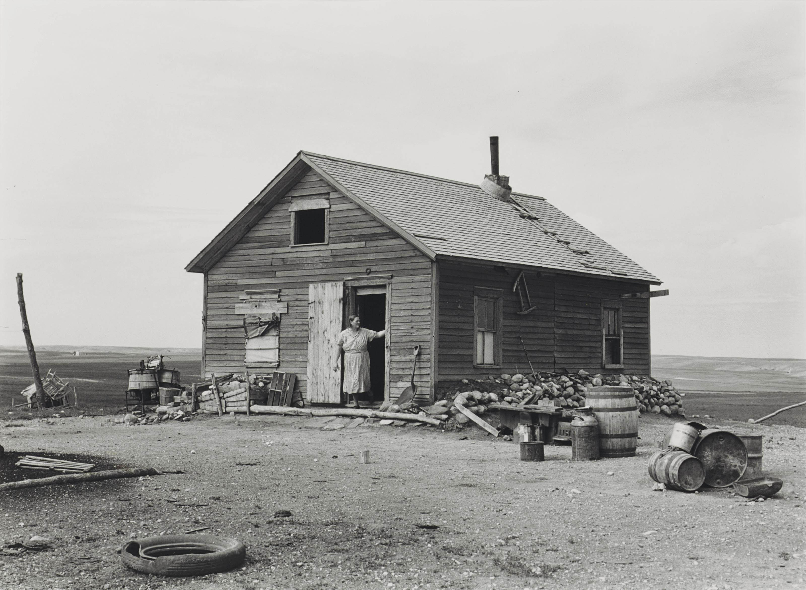 Company Housing in Coal Camp, Appalachia, 1946; and Farm House, North Dakota, 1939