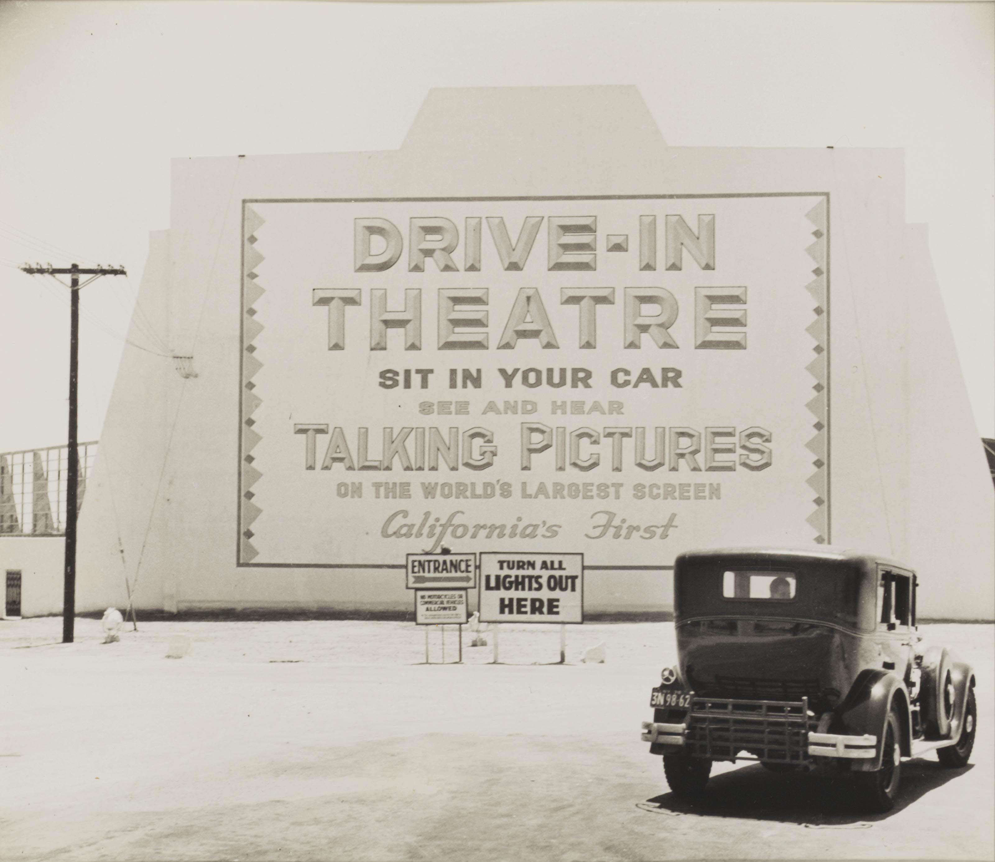 Entrance, First Drive-in Theater, Los Angeles, 1935