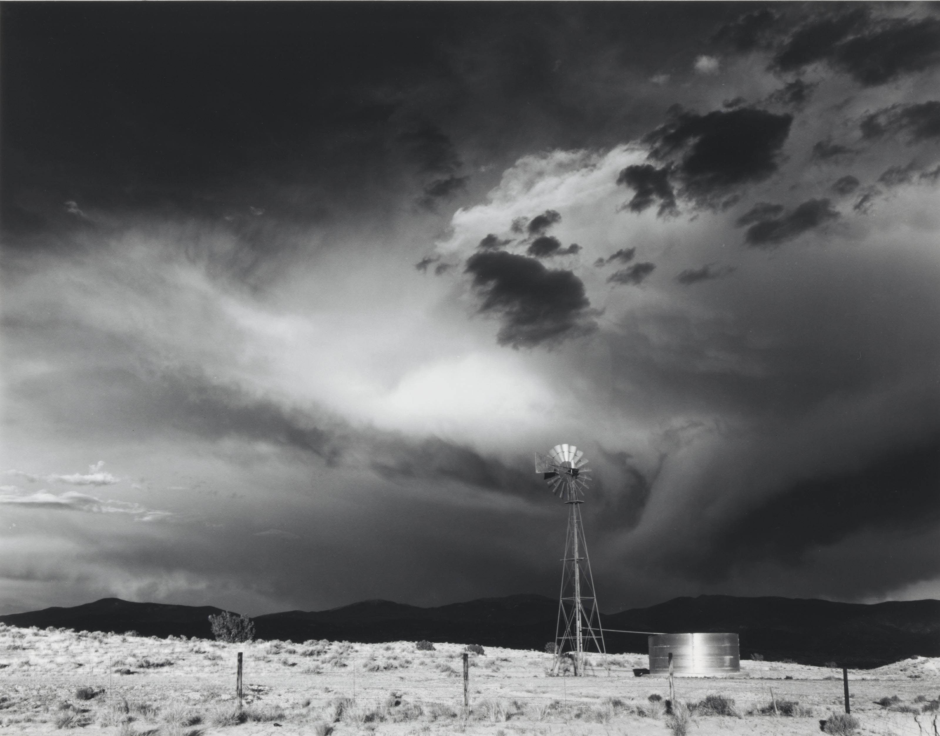 Storm near Santa Fe, New Mexico, 1965; and Church near Glen Ullin, North Dakota, 1969