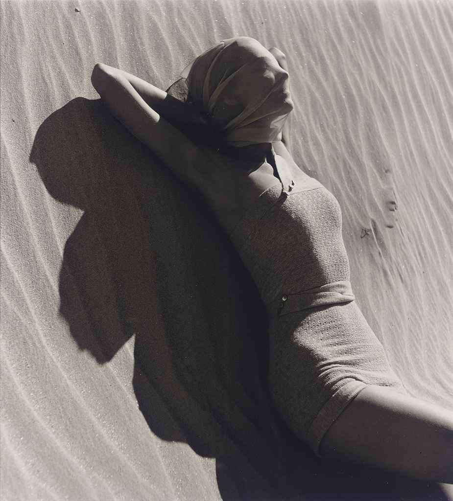 Nude on Beach, 1940s