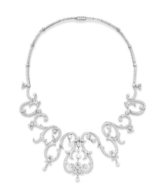 A BELLE EPOQUE DIAMOND NECKLAC
