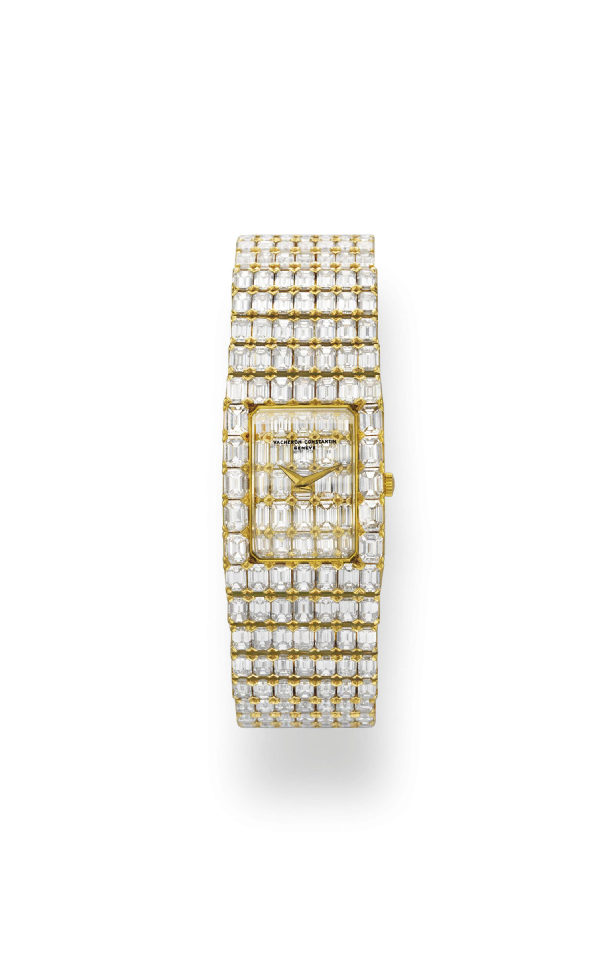"A DIAMOND AND GOLD ""LORD KALLA"" BRACELET WATCH, BY VACHERON CONSTANTIN"