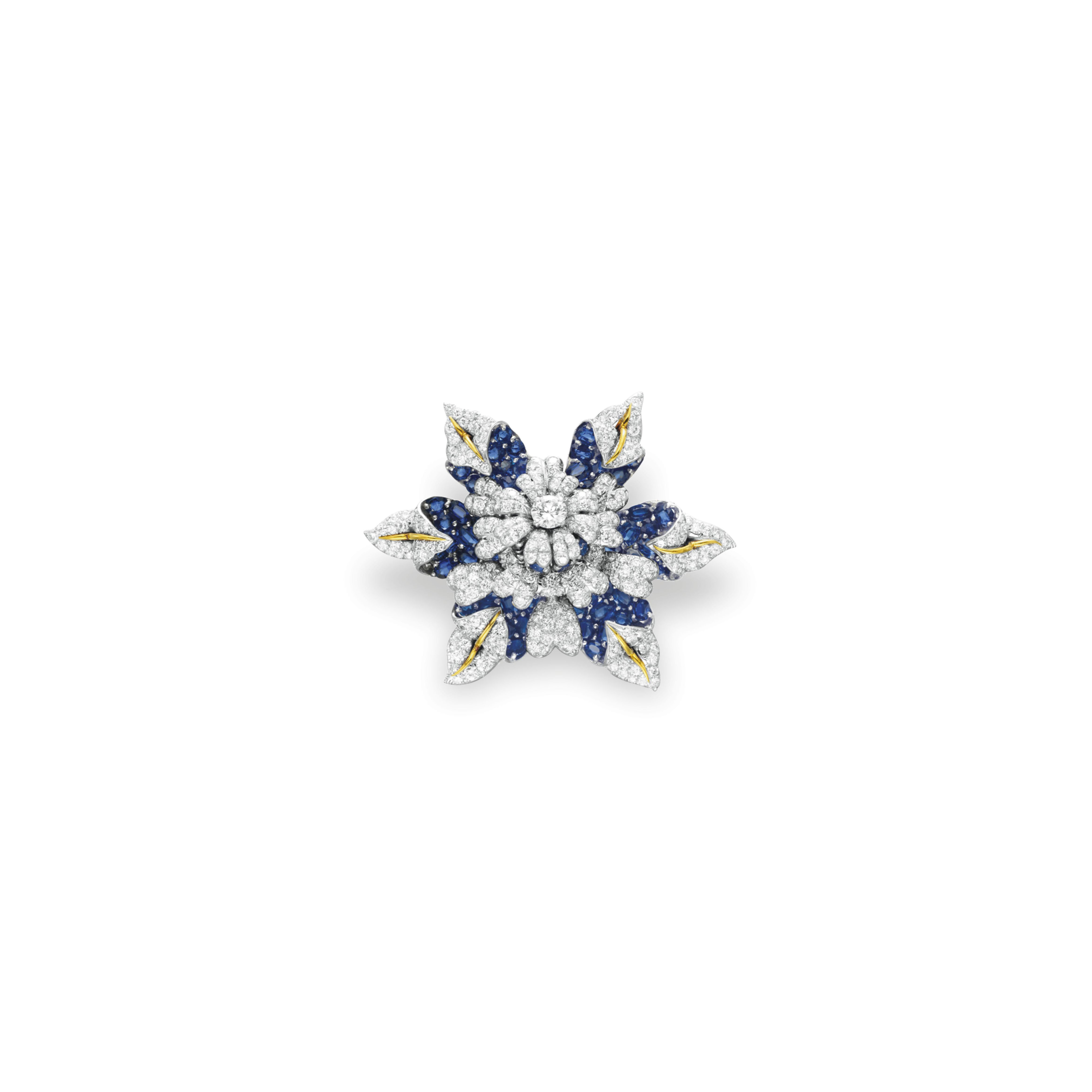 A DIAMOND AND SAPPHIRE BROOCH, BY JEAN SCHLUMBERGER, TIFFANY & CO.