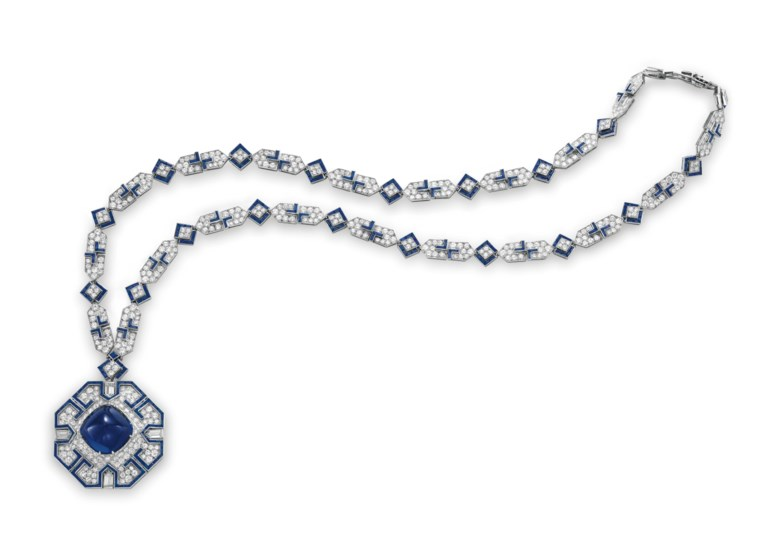 A sapphire and diamond sautoir, by Bulgari. Sold for $5,906,500 on 13 December 2011 at Christie's in New York