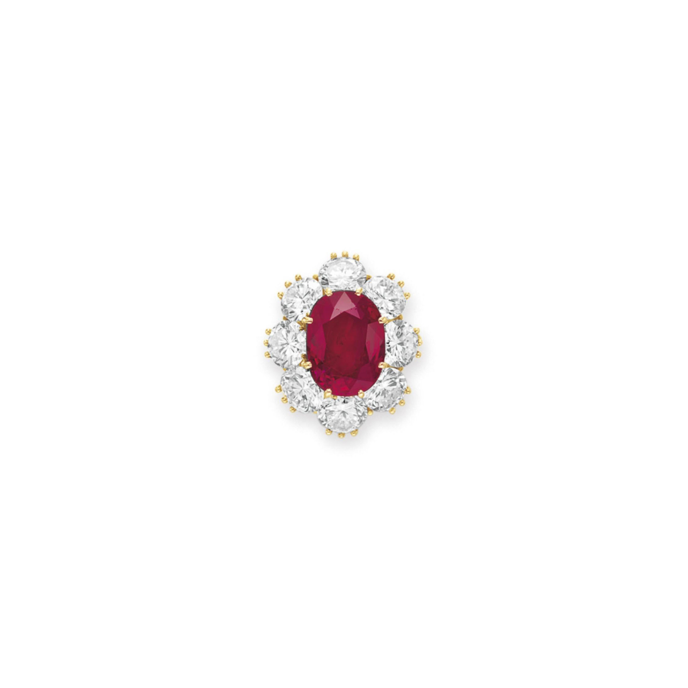 A RUBY AND DIAMOND RING, BY VAN CLEEF & ARPELS